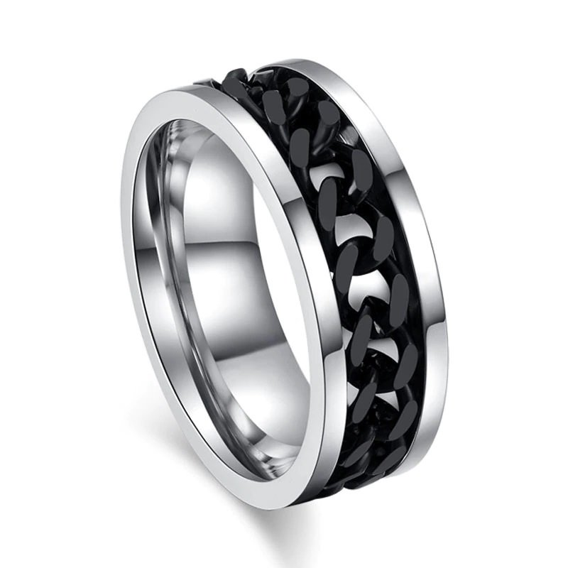 Bentley Black Spinner Men's Ring