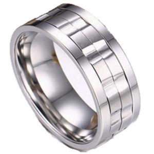 Duke Silver Titanium Men's Ring, Men's Rings Online, Men's Ring, Spinner Ring, Spin Ring, Just Rings Online,