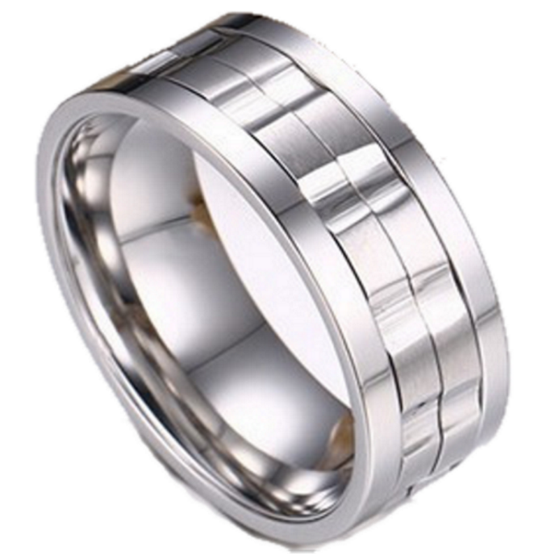 Duke Silver Titanium Men's Ring, Men's Rings Online, Men's Ring, Spinner Ring, Spin Ring, Just Rings Online,