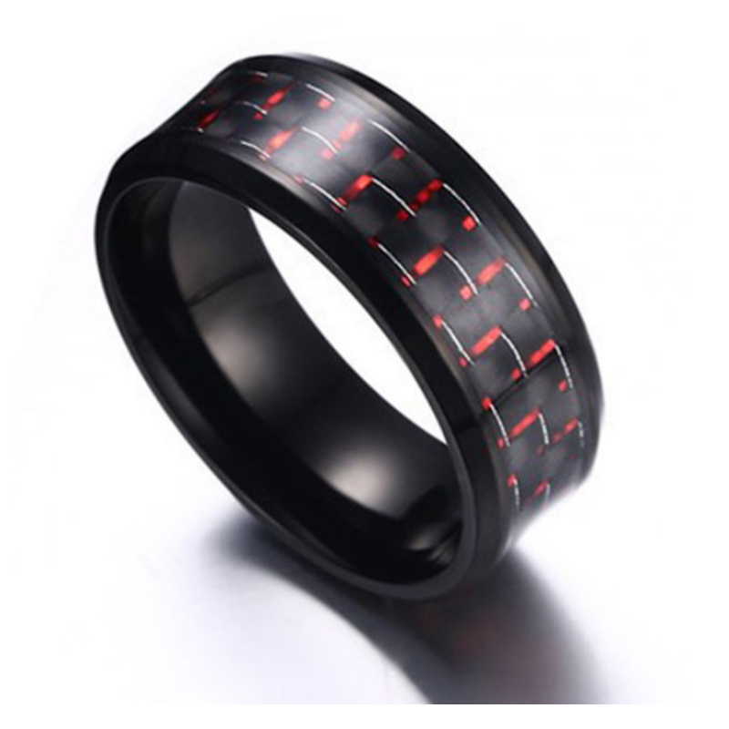 Raven Red Tungsten Men's Ring, Men's Rings Online, Men's Rings, Just Rings