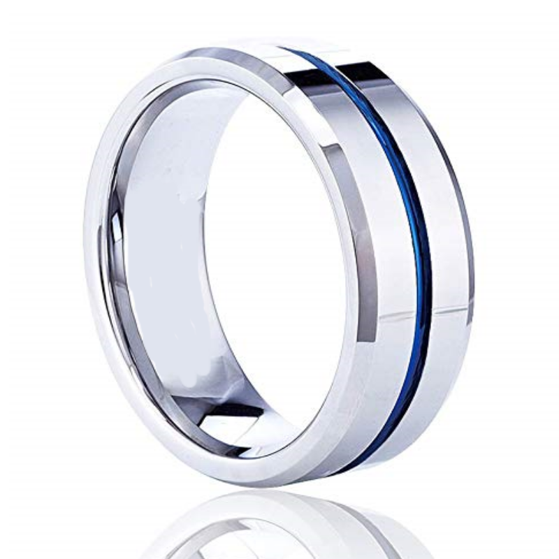 Titan Silver Titanium Men's Ring, Men's Rings Online, Men's Ring Just Rings Online, Free Express Postage, Free Shipping