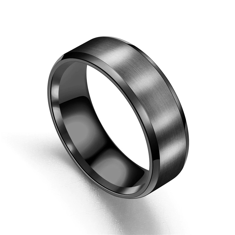 Chicago Black Titanium Mens Ring, wedding band, afterpay