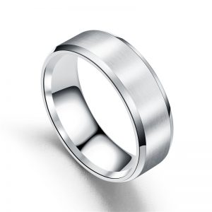 Chicago Silver Titanium Men's Ring, Mens Band, Wedding Band Mens ring online, afterpay