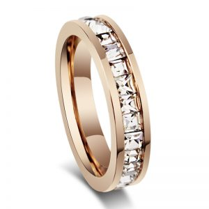 Starlea Rose Gold Titanium Ladies Ring