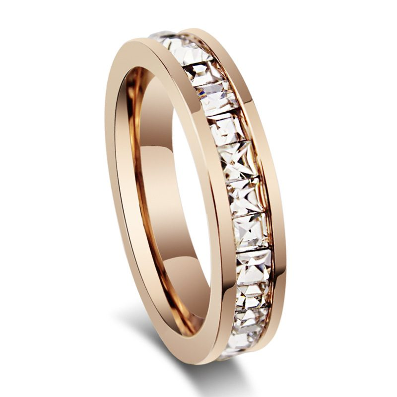 Starlea Rose Gold Titanium Ladies Ring