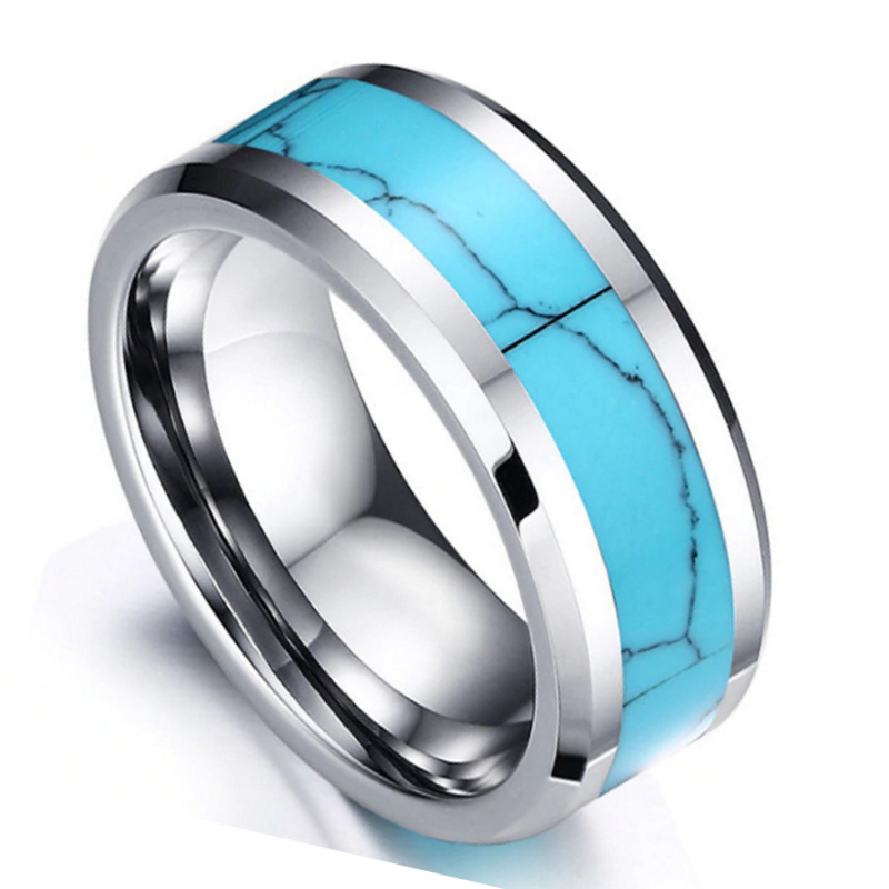 Sinclair Tungsten Band, Unisex ring, mens rings online, ladies rings online, tungsten rings, mens bands, ladies bands, blue ring, turquoise ring, afterpay rings, oxipay rings, paypal rings, australian stock