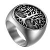 Tree Of Life Silver Men's Ring