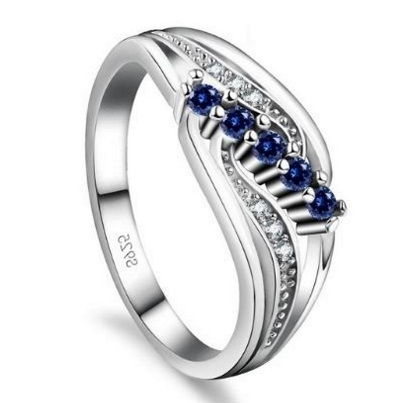 Gemma Blue S925 Ladies Ring, ladies ring, wedding rings, women ring afterpay