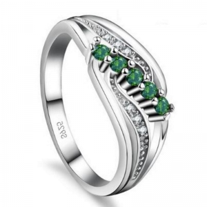 Gemma Green S925 Ladies Ring, ladies ring, wedding rings, women ring afterpay