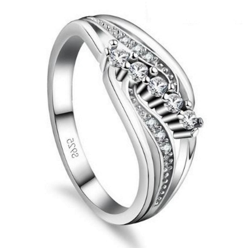 Gemma White S925 Ladies Ring, ladies ring, wedding rings, women ring afterpay