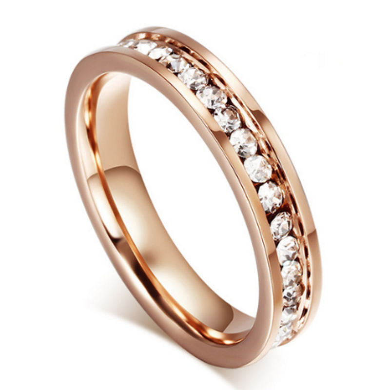 Dampier Rose Gold Titanium Ladies Ring, Ladies Rings Online, Wedding Rings, Bridal Sets, Wedding Bands, Ladies Rings