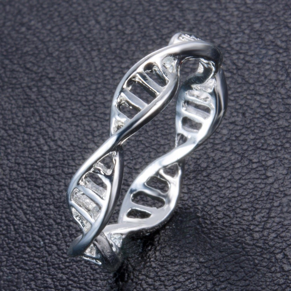 DNA Silver Tone Ladies Ring, Just Rings Online, Ladies rings online, prouds, micheal hill, Afterpay , Humm, Laybuy, PayPal, latitudepay