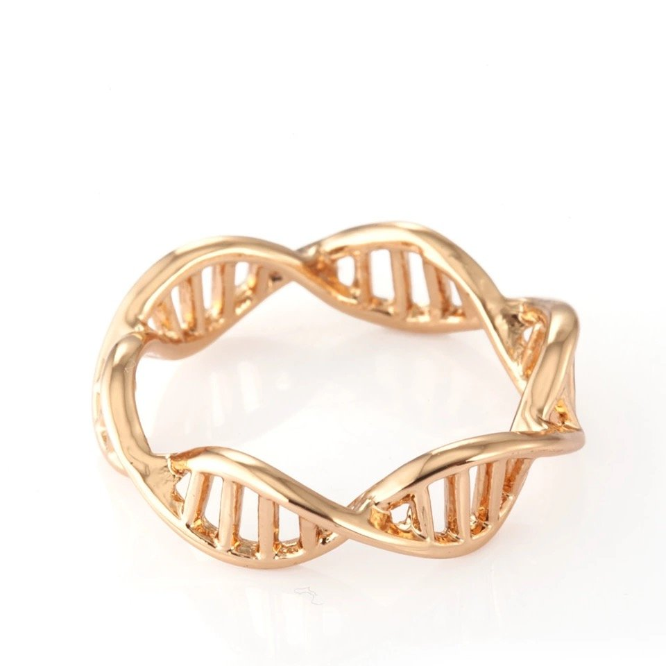 DNA Gold Tone Ladies Ring, Just Rings Online, Ladies rings online, prouds, micheal hill, Afterpay , Humm, Laybuy, PayPal, latitudepay