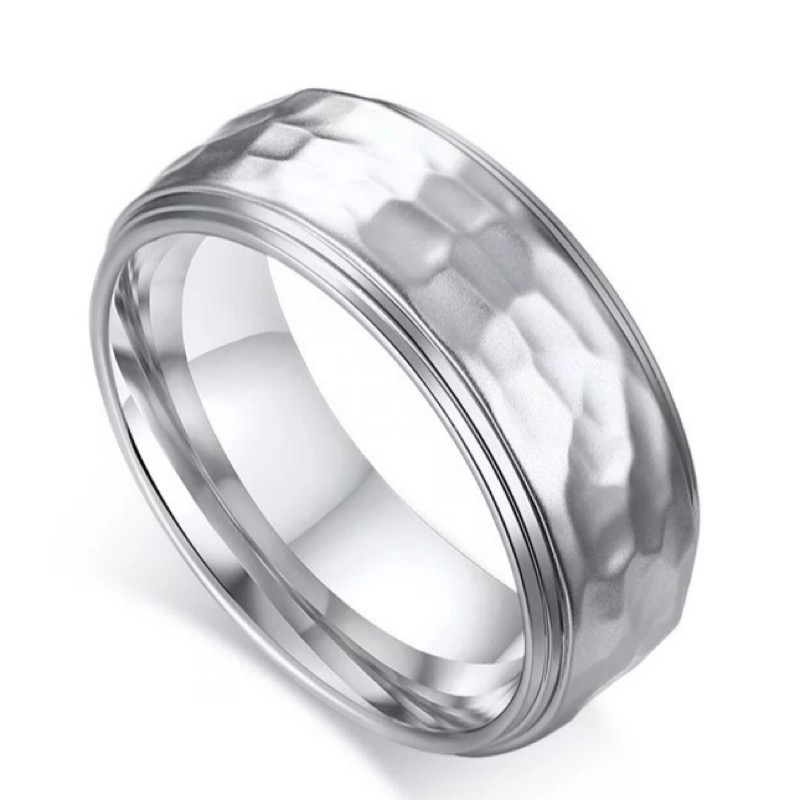 Hammertone Silver Ring, Mens Ring Online, Ladies Rings,