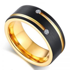 Chanamee Black Gold Tone Tungsten Ring, Mens Rings Online, wedding Rings, Afterpay, Laybuy, PayPal, Humm,Latitudepay, Ladies rings