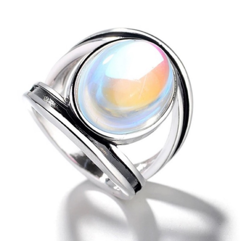 Moon Silver Tone Ladies Ring, ladies rings, women's rings, wedding rings, couples rings, Afterpay, Laybuy, PayPal, Latitudepay, Humm, free express postage, hassle free exchanges