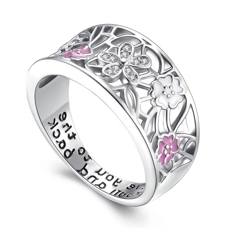 Flower Silver Tone Ladies Ring, ladies rings, women's rings, wedding rings, couples rings, Afterpay, Laybuy, PayPal, Latitudepay, Humm, free express postage, hassle free exchanges