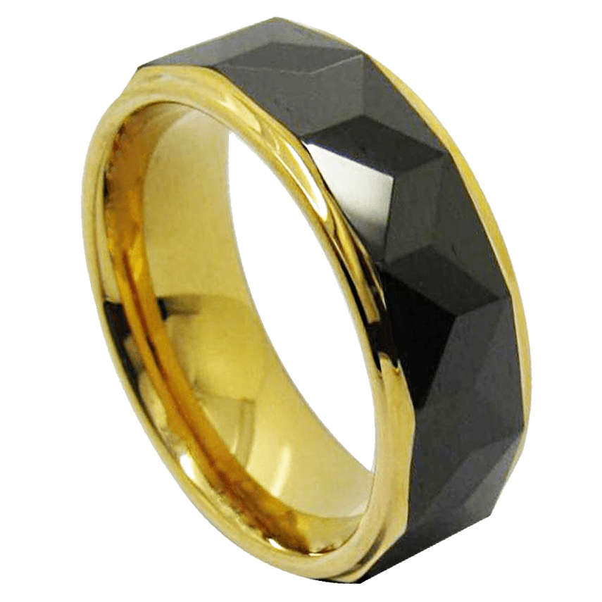Salvador Black Gold Tone Ring