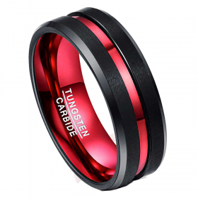 Fire Tungsten Ring, Men's Rings Online, Men's Ring Just Rings Online, Free Express Postage, Free Shipping, Australian Stock , Fast Service, Easy Exchange, Free ring sizer
