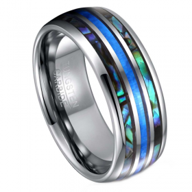 Minerva Abalone Shell Opal Tungsten Ring, Men's Rings Online, Just rings, Afterpay rings, Laybuy