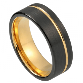 Nubia Tungsten Ring , Just Rings, Men's Rings Online, Rings for him, Afterpay Rings, Zippay Rings, Laybuy Rings, Mens rings, Wedding bands, Tungsten, gold tone, australian stock