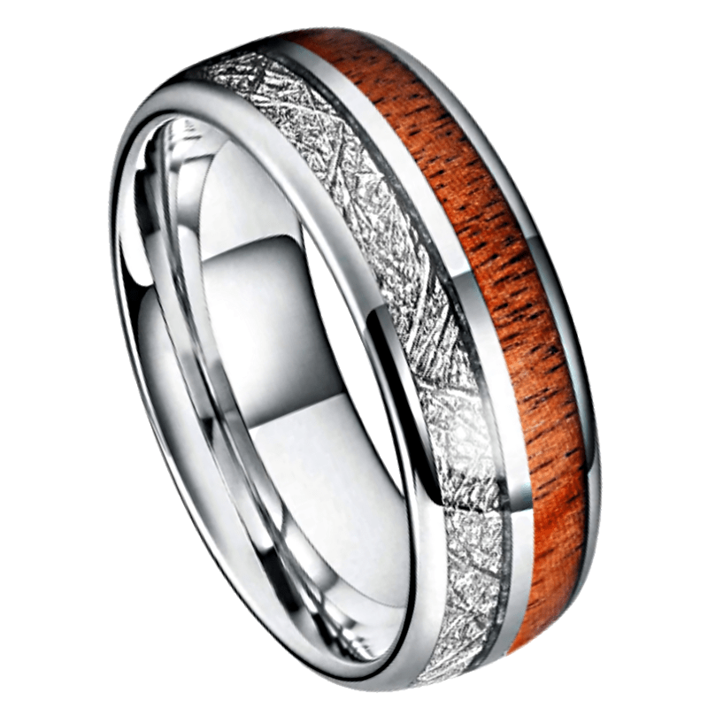Holt - Men's Tungsten Ring, Men's Rings Online, Men's Ring Just Rings Online, Free Express Postage, Free Shipping, Australian Stock , Fast Service, Easy Exchange, Free ring sizer, Ladies Ring, Womens wedding , Ladies wedding band, silver tone, deer antler, wooden ring