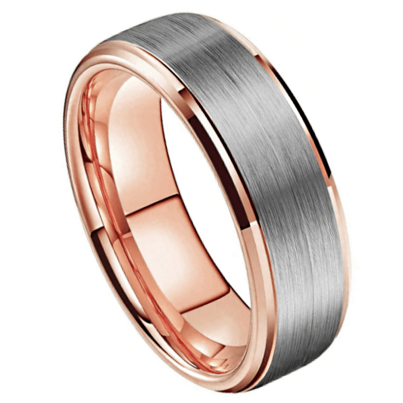 Igor - Men's Tungsten Ring, Men's Rings Online, Men's Ring Just Rings Online, Free Express Postage, Free Shipping, Australian Stock , Fast Service, Easy Exchange, Free ring sizer, Ladies Ring, Womens wedding , Ladies wedding band, Gold Tone, Silver Brushed finished