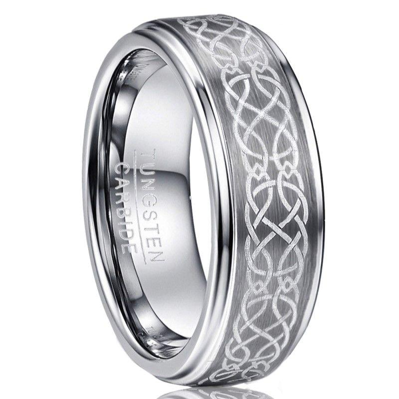 Celtic Tungsten Ring