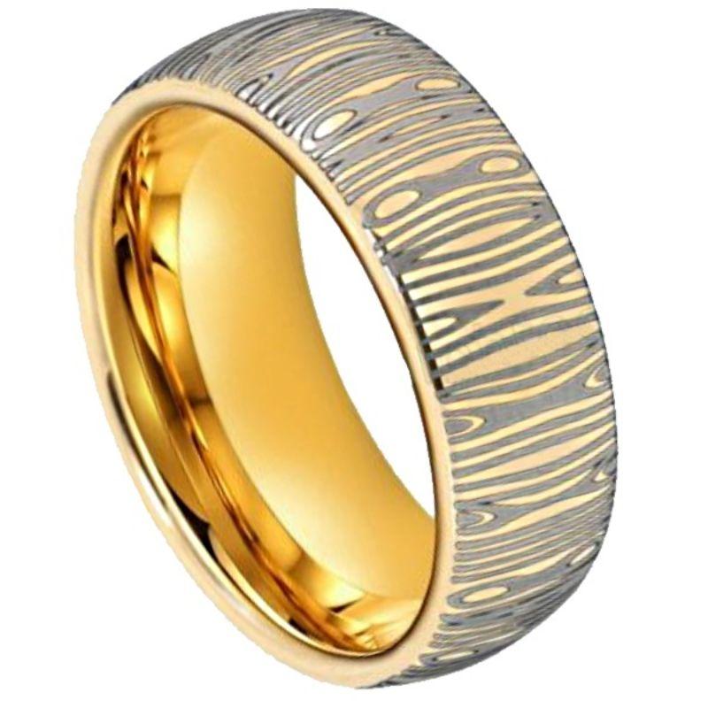 Dubai Men's Damascus Ring, Damascus Steel Ring, Mens Damascus ring, Mens ring online, Just RIngs